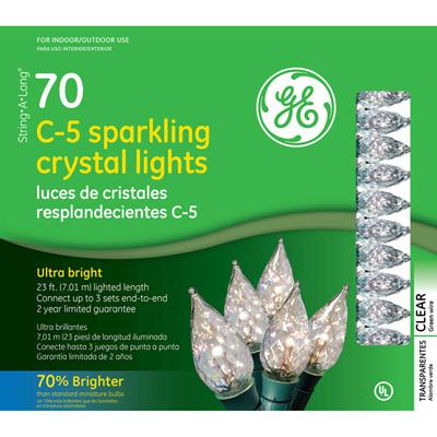 Ge String A Long C5 Sparkling Crystal Clear Light Set 70
