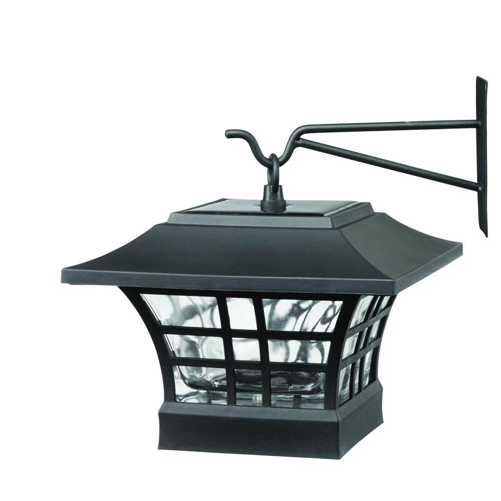 Hampton Bay Gx 4511 2pk Solar Black Led Deck Post With