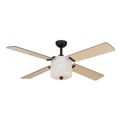 Hampton Bay Semi Square 52 In Oil Rubbed Bronze Ceiling Fan Light Kit PPPAE