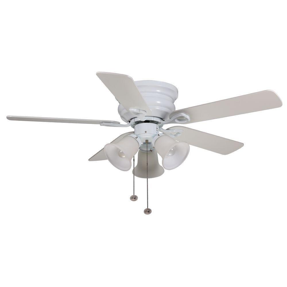 Hampton Bay CF544H-PEH Clarkston 44 In. White Ceiling Fan