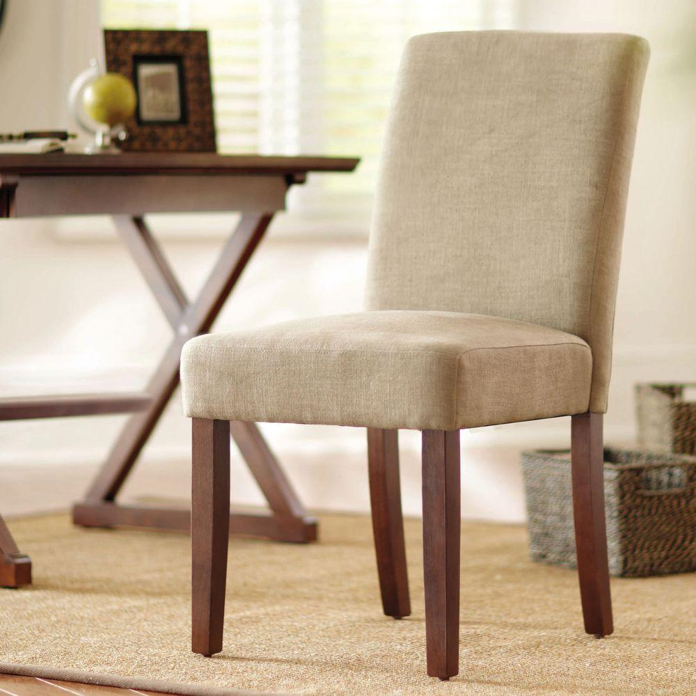 Home Decorators Collection Brexley Chestnut Linen Look Parson Chair Pppa Avi Depot Much More