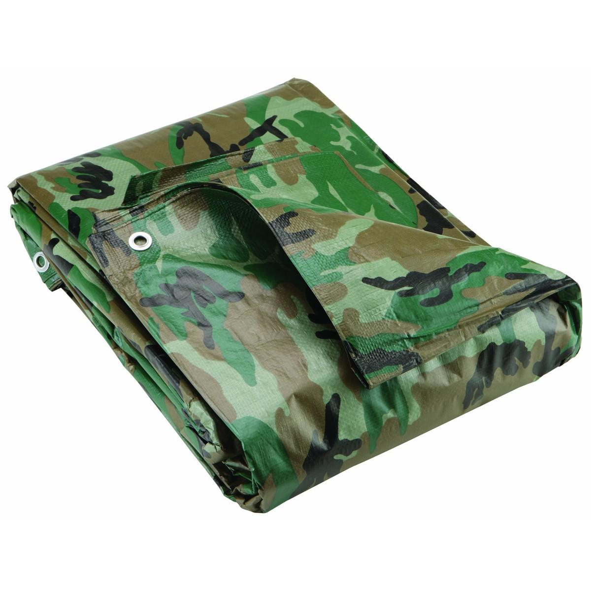 10 ft. x 12 ft. Camo Camouflage Tarp PPPB