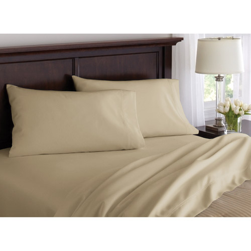 Canopy 500 Thread Count Cotton Bedding Sheet Set Straw