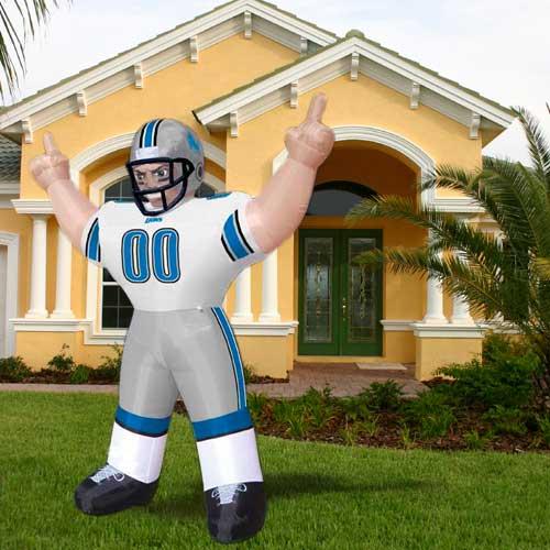 8 ft. Inflatable NFL Detroit Lions Player Tiny Mas