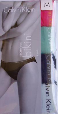 4 pack New Calvin Klein ck seamless bikini D3286 m
