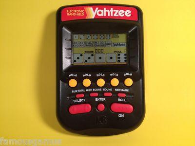 6 dice yahtzee games handheld video