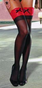 """she's Got Legs"" Thigh High Black/red Os"