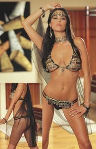 """gypsy Dancer"" Bra, Gstring, Cape, Head Pc Os"
