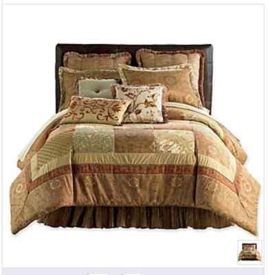 Chris Madden Regal Block Comforter Set Queen New