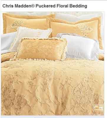 Chris Madden Puckered Floral Comforter Set Color Blue