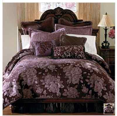 Chris Madden Floral Chenille Queen Comforter Set New