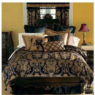 Chris Madden Midnight Damask Comforter Set King NEW , dealsplusdiscounts
