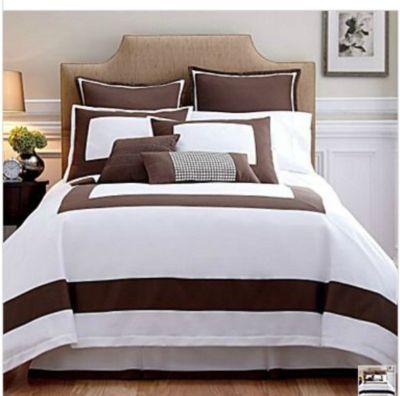 Liz Claiborne Capshaw Comforter Set Queen Tika Brown New
