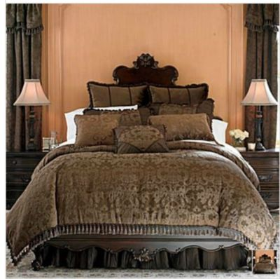 chris madden sheets chris madden brown damask jacquard comforter set new 12685