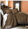 Chris Madden Brown Damask Jacquard Queen Comforter