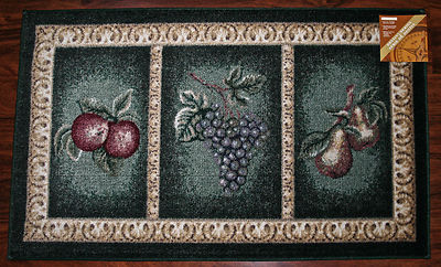 2x3 Kitchen Rug Mat Green Washable Mats Rugs Fruit Grapes