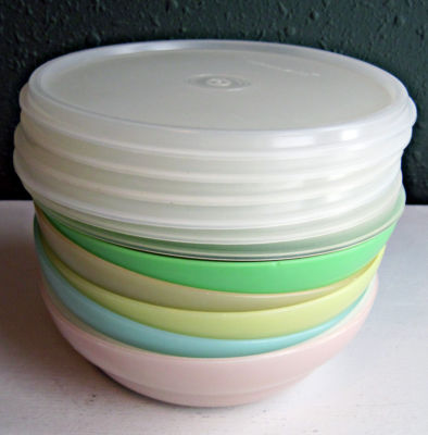 Vintage Tupperware Lot Of 6 Pastel Cereal Bowls With 6
