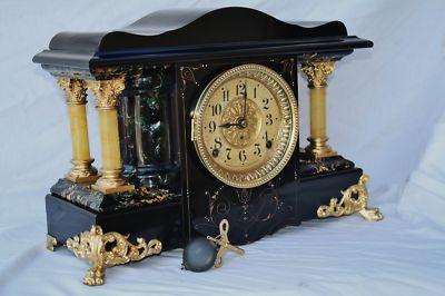 ANTIQUE  SETH THOMAS SHELF MANTEL  CLOCK  SHASTA