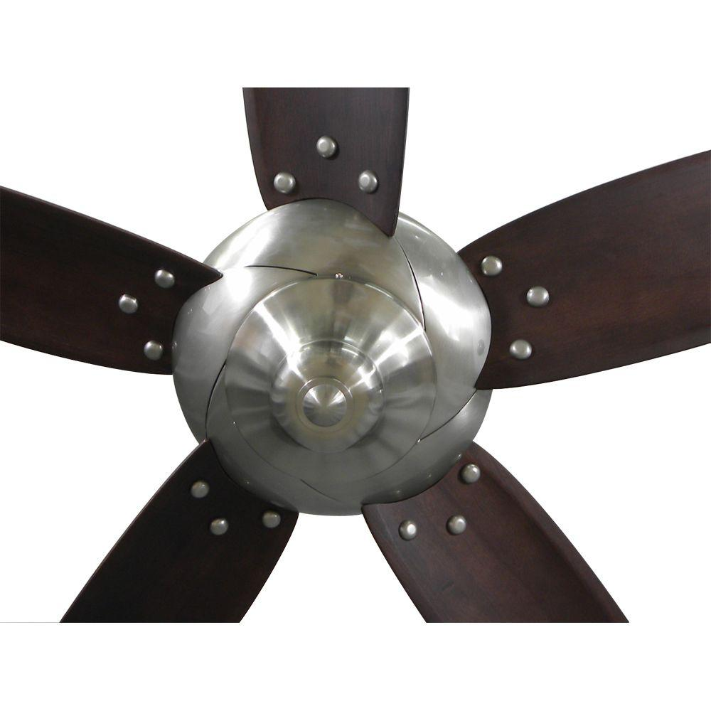 Hampton Bay Altura 56 In Brushed Nickel Ceiling Fan 69156