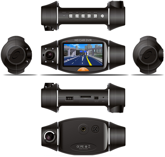 New Dual Lens Dash In Car Camera Cam Video Recorder DVR