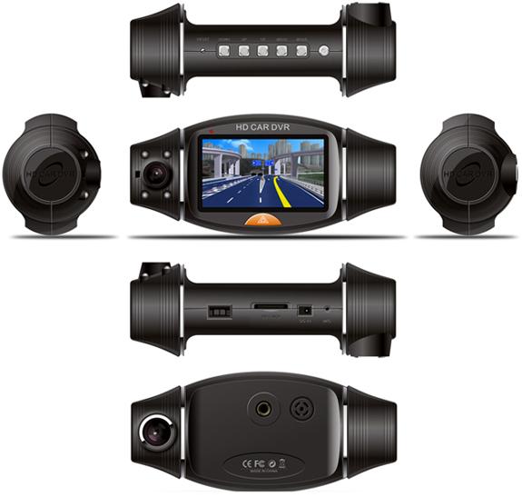 New Dual Lens Dash In Car Camera Cam Video Recorder DVR