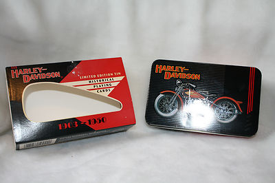 HARLEY DAVIDSON Collector Tin Playing Cards Limite