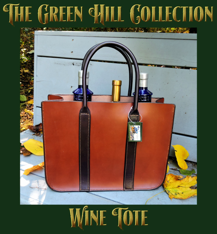 Green Hill Wine Tote