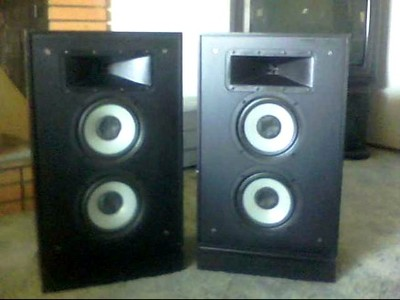 Klipsch Kg4 Fb Speakers Short Tower Floor Standing Rare