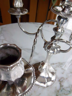 Pairpoint Silver Candelabra Striking Centerpiece, antiquefindercny