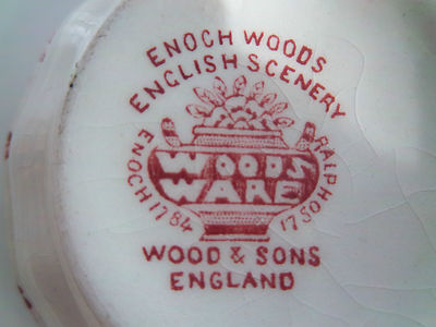 Wood Amp Sons Red Enoch Woods English Scenery Salt Cellar