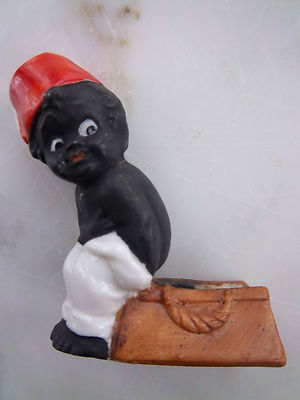 Rare Antique Black Boy Figurine Little Black Sambo Like
