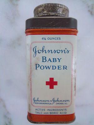 Antique Johnson S Baby Powder Tin 4 1 8 Ounces Collectible