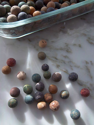 Civil War Period 680 Clay Marbles From Farmer S Field In Upstate New