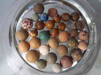 Civil War Period 680 Clay Marbles From Farmer S Field In