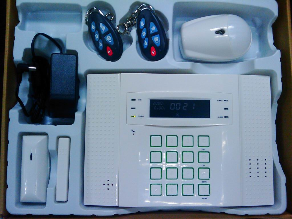 GSM home alarm with LCD text & diagram display SMS & voice house ...