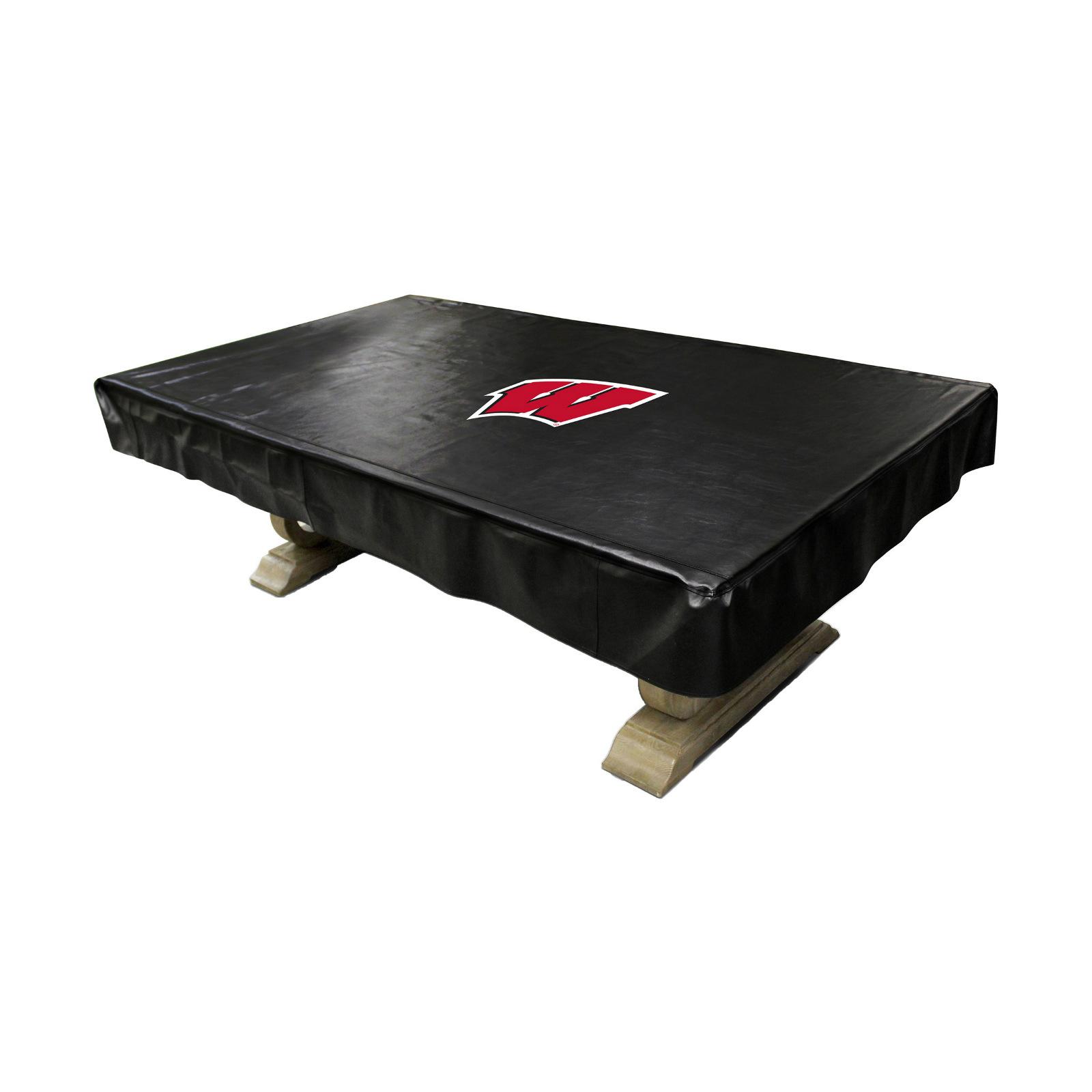 NCAA Wisconsin Badgers 8 Foot Naugahyde Pool Tabl