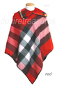 100% Baby Lamb Cashmere Wool Plaid Checker Poncho