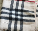 100% Cashmere Wool Plaid Checker 132cm Square Scar