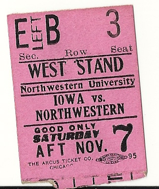 1914 Iowa Hawkeyes vs Northwestern Wildcats Footba