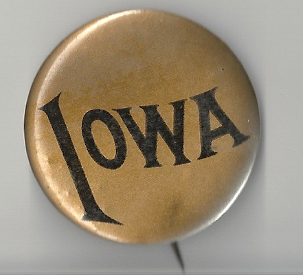 1900's or 20's Iowa Hawkeyes Football Badge Pin Pi