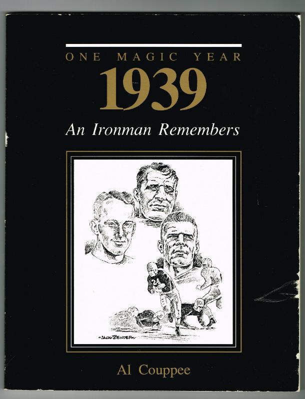 """ONE MAGIC YEAR 1939, An Ironman Remembers"" Book."