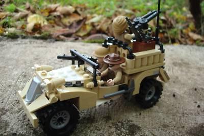 CUSTOM LEGO SET WW2 BRITISH DESERT RATS TRUCK MINIFIGS