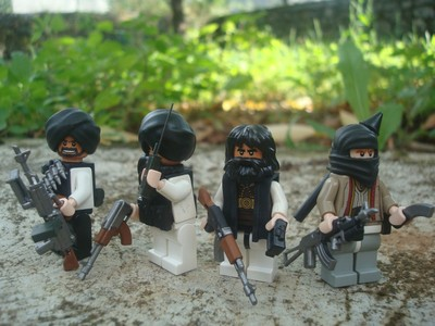 Lego Custom Minifigs Taliban Insurgents Set Ak47 Rifles Lakudas
