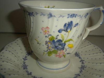 ... Nikko Tableware Blue Peony Collection Japan 2 Cup & Nikko Tableware Blue Peony Collection Japan 2 Cups u0026 2 Saucers ...