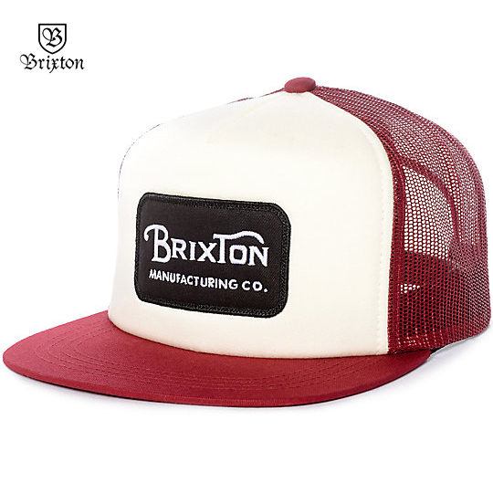 191167d3e8 Details about Brixton Grade Trucker Snapback Baseball Cap Hat Red OS NWT  NEW Skate Surf RT35€