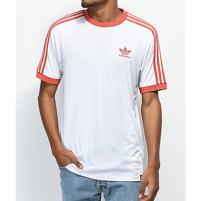 Details zu Adidas Skateboarding Clima Club Jersey Skate T Shirt Tee WhiteRed XL NEW NWT
