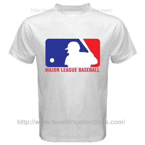 America world mlb major league baseball logo symbol white for Baseball logos for t shirts