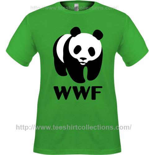 wwf world wide fund for nature giant panda logo symbol green t shirt