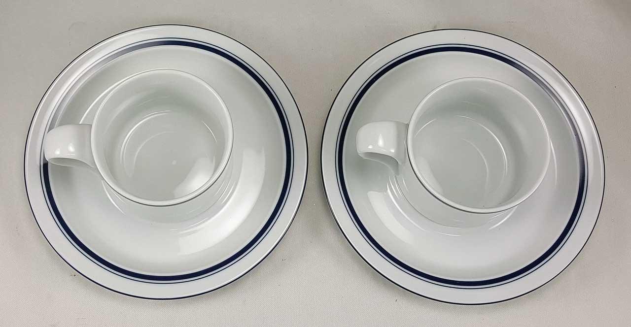 Dansk Bistro Christianshavn Blue Cup & Saucer (x2) 07304CL 07303CL ...