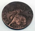 1737 Halfpenny Great Britain George II Britannia C